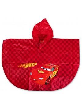 Chlapčenská pláštenka / pončo proti dažďu Autá (Cars) - červená