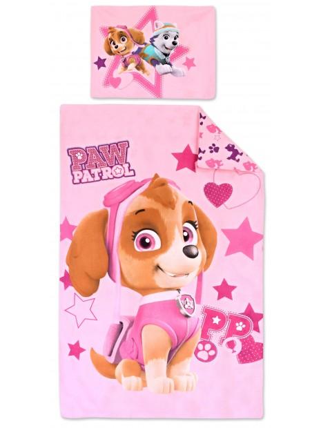 Bavlnené obliečky do detskej postieľky Labková patrola (Paw Patrol) - pre dievčatá