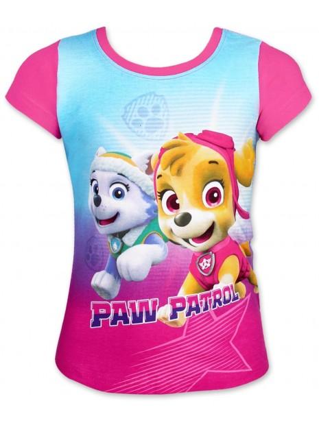 Dívčí tričko s krátkým rukávem Tlapková patrola (Paw patrol) - růžové