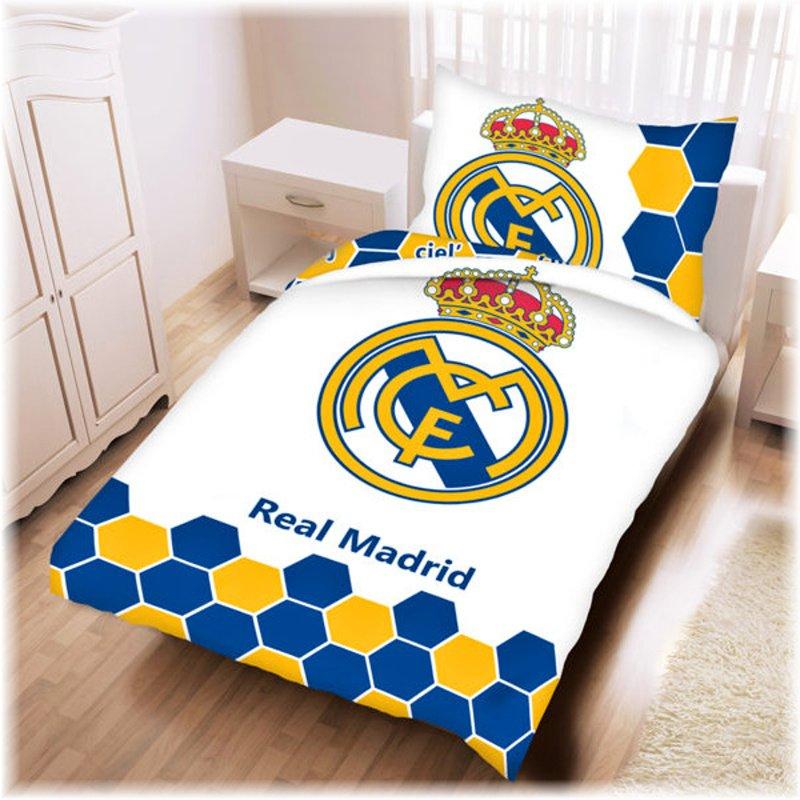b6a2326cb8a7e Bavlnené posteľné obliečky FC Real Madrid z oficiálnej produkcie klubu