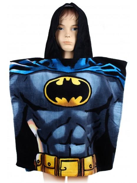 Detské bavlnené pončo osuška s kapucňou Batman