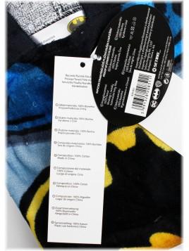 Dětské bavlněné pončo osuška s kapucí Batman
