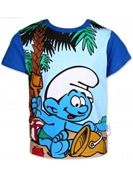 Chlapecké tričko s krátkým rukávem Šmoulové - nebesky modré