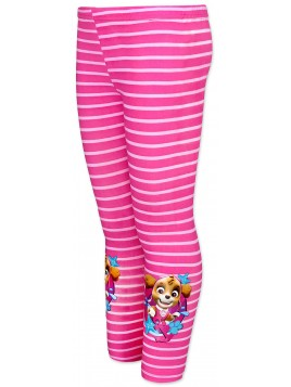 Dívčí bavlněné legíny Tlapková patrola (Paw Patrol) - sv. růžové