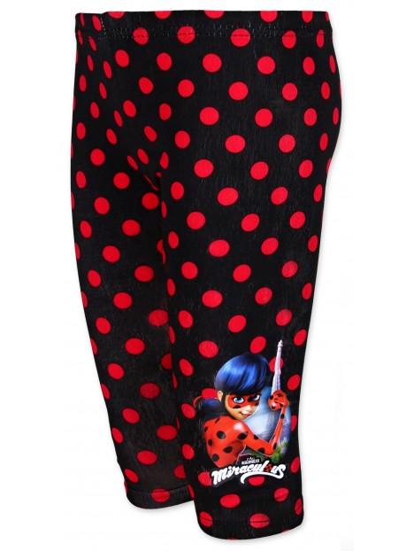 Výprodej Tříčtvrteční bavlněné legíny Kouzelná beruška (Ladybug) - černé 94fb60eace