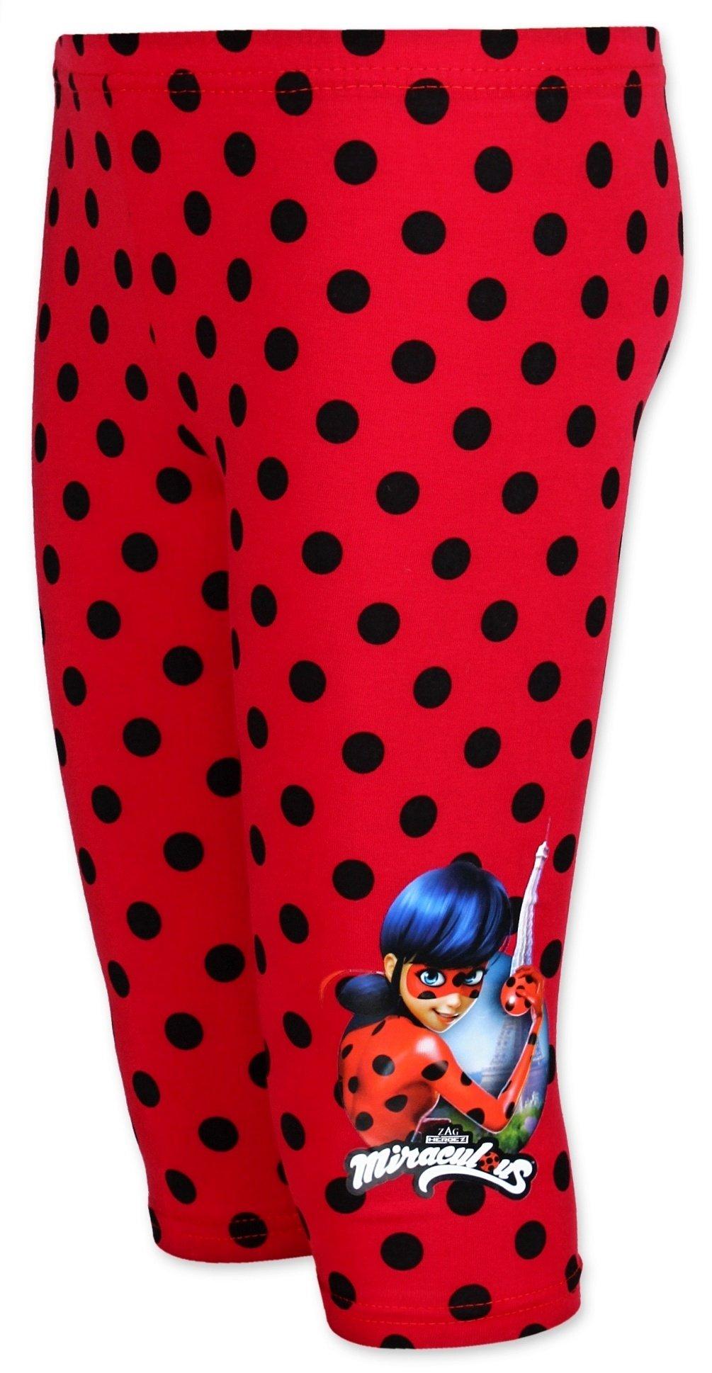 Tříčtvrteční bavlněné legíny Kouzelná beruška (Ladybug) - červené 95016e84e8