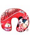 """Dívčí cestovní polštář okolo krku s obrázkem Minnie Mouse - Disney - motiv """"Miluji nakupování"""". Tento polštář na cesty je ideální do auta, autobusu i do letadla.Je hebký a příjemný na dotek. Ať budete cestovat kamkoliv, zajistí Vašíholčičce při cestování komforta pohodlí. Polštářek můžete prát při teplotě do 40°C"""