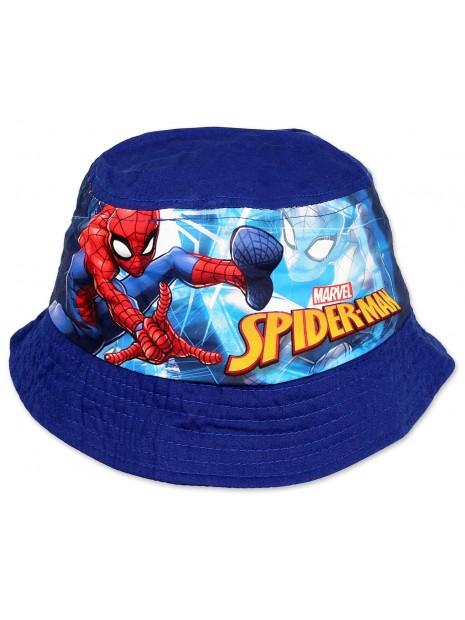 Chlapecký klobouček Spiderman - tm. modrý