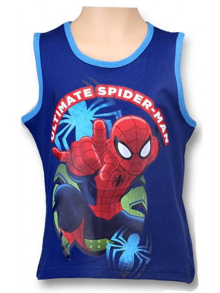 Chlapčenské tielko Spiderman - modré