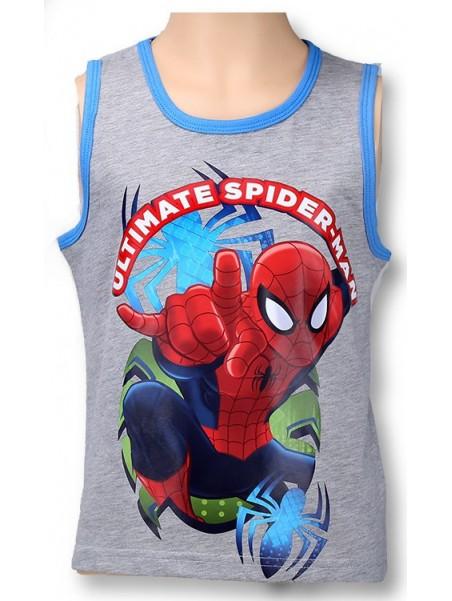 Chlapecké bavlněné tílko Spiderman - šedé