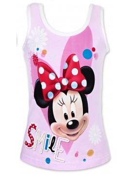 Dívčí bavlněné tílko Minnie Mouse - bílé