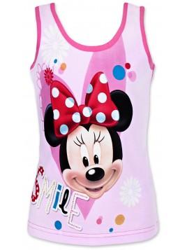 Dívčí bavlněné tílko Minnie Mouse - růžové