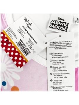 Dievčenské tielko Minnie Mouse - ružové