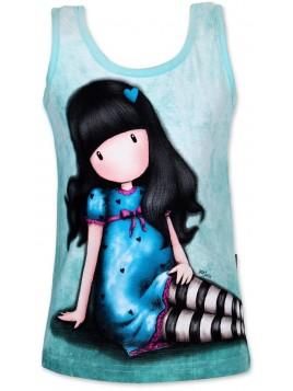 Dievčenské bavlnené tričko Gorjuss Santoro London - sv. tyrkysové