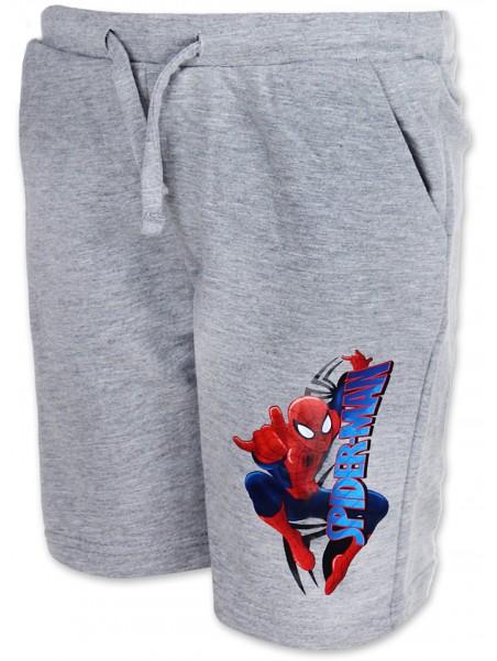 Chlapčenské kraťasy Spiderman - sv. šedé
