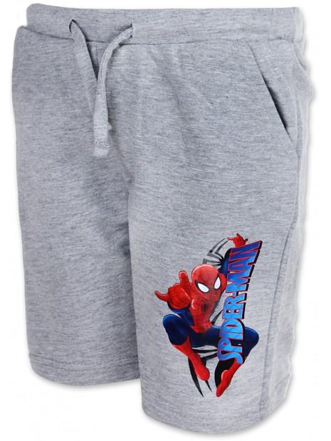 Chlapecké kraťasy Spiderman - sv. šedé