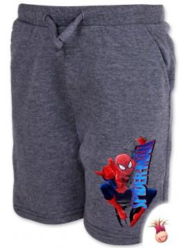 Chlapčenské kraťasy Spiderman - tm. šedé