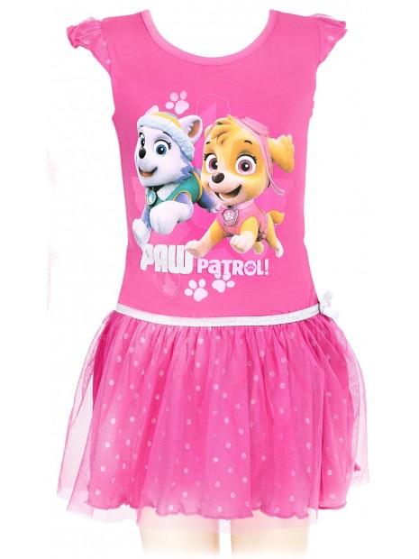 Dievčenské letné šaty Tlapková patrola (Paw patrol) - sv. ružové