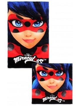 Set bavlnených uterákov na tvár a na ruky Čarovná lienka (Ladybug)