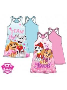 Dívčí bavlněné letní šaty Tlapková patrola (Paw patrol) - sv. tyrkysové