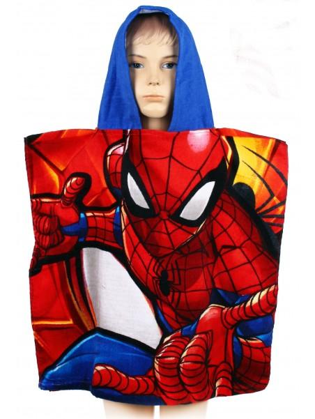 Dětské bavlněné pončo osuška s kapucí Spiderman