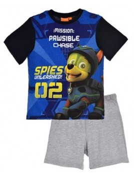 Letné chlapčenské pyžamo Tlapková patrola (Paw Patrol) - modré