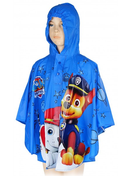 Chlapčenská pláštenka / pončo Tlapková Patrola (PAW PATROL) - modrá
