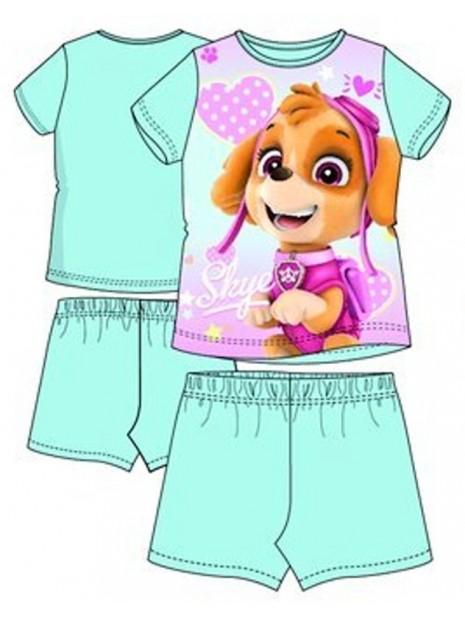 Letní dívčí pyžamo Tlapková patrola (Paw, Skye) - sv. modré