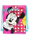 Textilné vrece na športové potreby, alebo na cvičky s motívom krásne myšky Minnie Mouse (Disney). Navrchu sťahovanie na šnúrku - je možné ho priviazať k aktovke, alebo nosiť na chrbte.