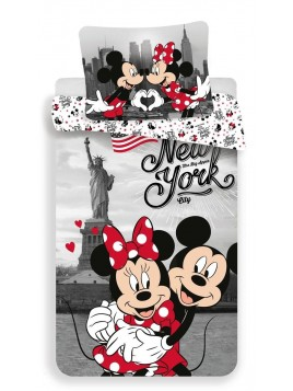 Bavlněné povlečení Mickey a Minnie v New Yorku ❤ (Disney)