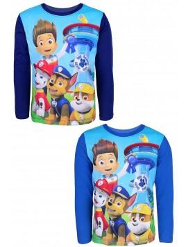 Chlapčenské tričko s dlhým rukávom Tlapková patrola (Paw Patrol) - modré