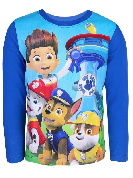 Chlapecké tričko s dlouhým rukávem Tlapková patrola (Paw Patrol) -  modré