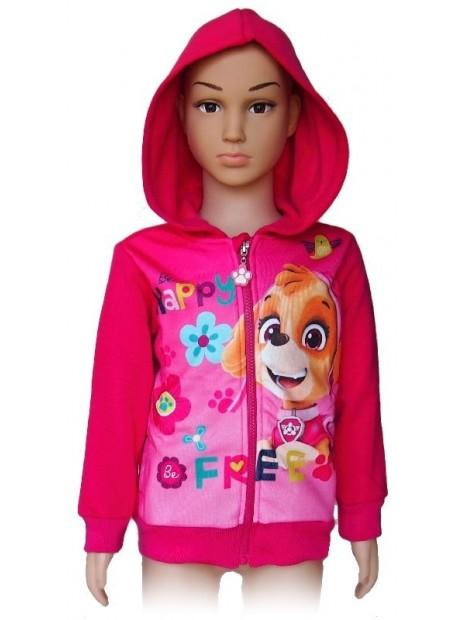 Dívčí mikina s kapucí Tlapková patrola se Skye - růžová