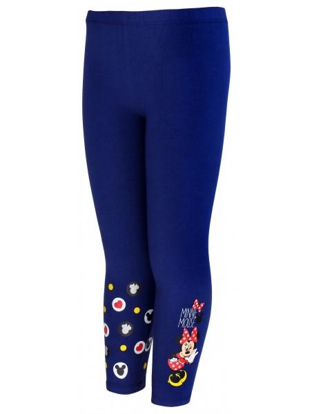 Dívčí bavlněné legíny Minnie Mouse - modré