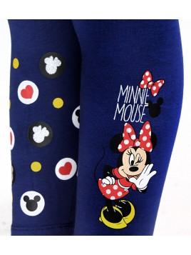 Dievčenské bavlnené legíny Minnie Mouse - modré