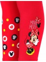 Dívčí bavlněné legíny Minnie Mouse - červené