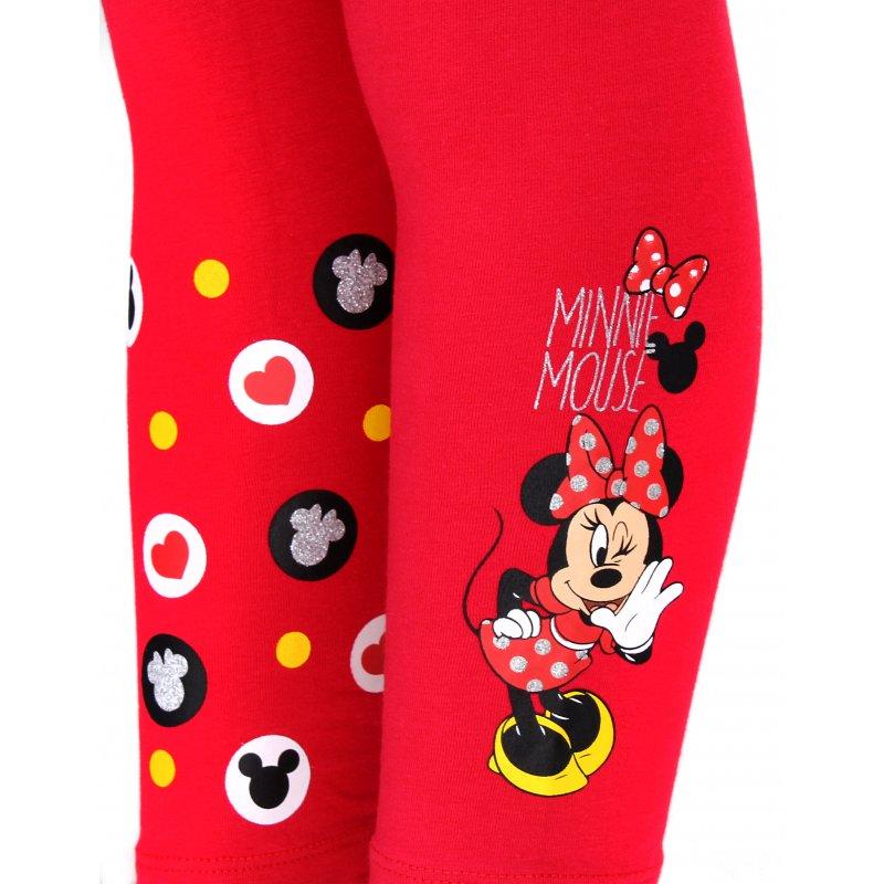 Dívčí bavlněné legíny Minnie Mouse - červené (Disney) 79806156bc