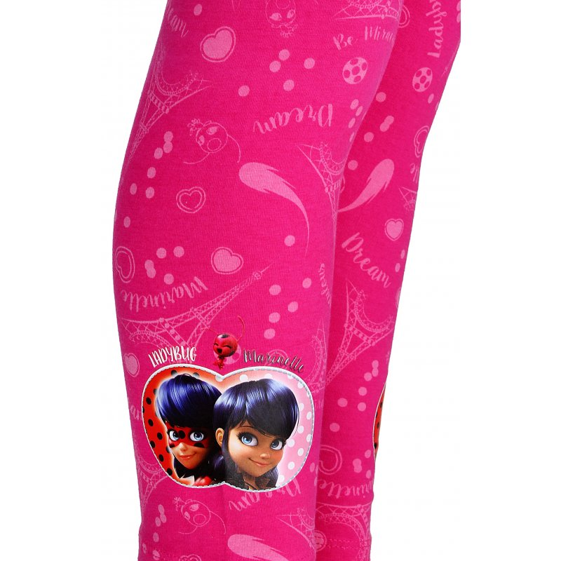 Dívčí dlouhé legíny Kouzelná beruška (Ladybug) - růžové a7e828698b
