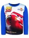 Chlapčenské tričko s dlhým rukávom Autá McQeen (Cars) - modré