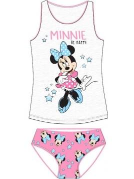 Dívčí spodní prádlo - košilka a kalhotky Minnie Mouse -  sv. šedé