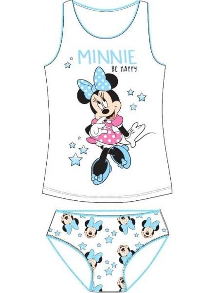 Dievčenská spodná bielizeň - košieľka a nohavičky Minnie Mouse - biele