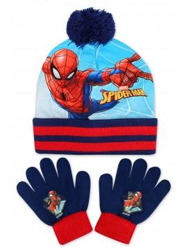 Chlapecká čepice a prstové rukavice Spider-Man