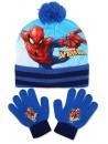 Krásny set čiapka s brmbolcom a prstové rukavice, poteší a zahreje každého obdivovateľa Spidermana.