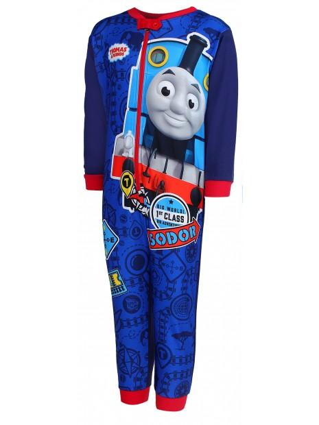 Chlapčenské pyžamo overal Mašinka Tomáš - tm. modré