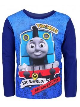 Chlapčenské tričko s dlhým rukávom Mašinka Tomáš - tm. modré