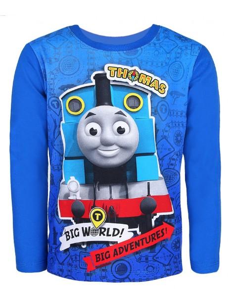 Chlapčenské tričko s dlhým rukávom Mašinka Tomáš - modré