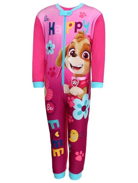 Dívčí pyžamo overal Tlapková patrola (Paw Patrol - Skye) - růžové