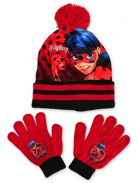 fa535b3d265 Set čepice a prstových rukavic s motivem Kouzelná beruška - Ladybug