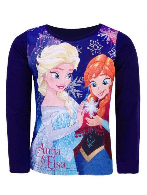 9c50ca5b0 Dievčenské tričko s dlhým rukávom Ľadové kráľovstvo (Frozen) - tm. modré
