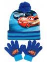 Chlapčenská čiapka a prstové rukavice s bleskom McQueen - Autá (Cars)